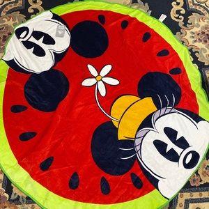 Never used Disney Mickey and Minnie beach towel